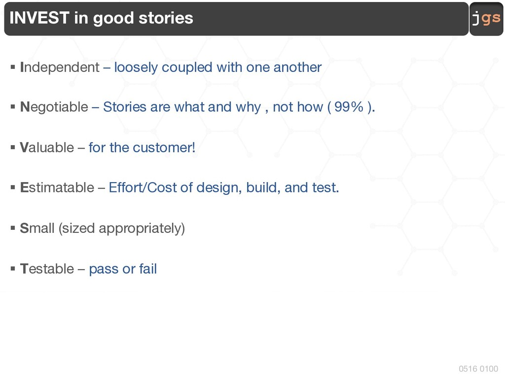 jgs 0516 0100 INVEST in good stories § Independ...