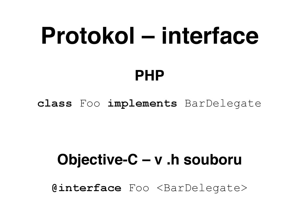 Protokol – interface PHP class Foo implements B...