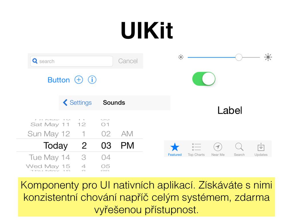 UIKit Label Komponenty pro UI nativních aplikac...