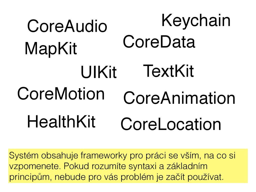 CoreAudio CoreAnimation CoreMotion MapKit Healt...