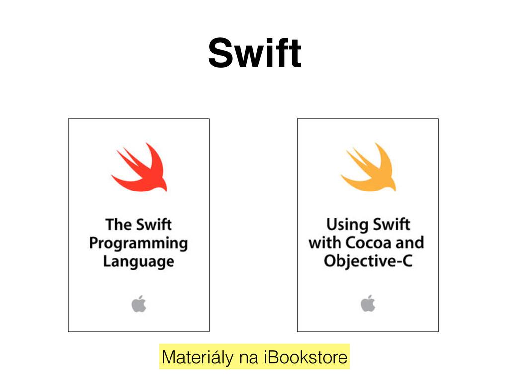 Swift Materiály na iBookstore