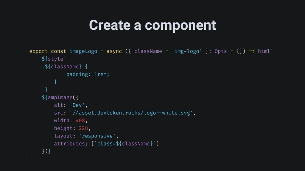 Create a component