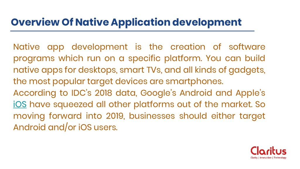 Native app development is the creation of softw...