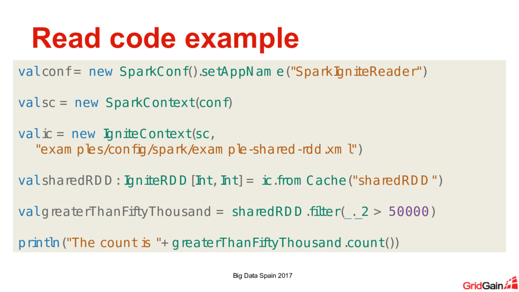 Read code example Big Data Spain 2017 val conf ...