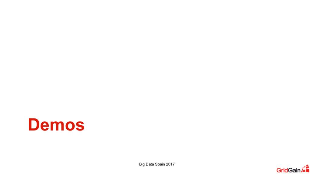 Demos Big Data Spain 2017
