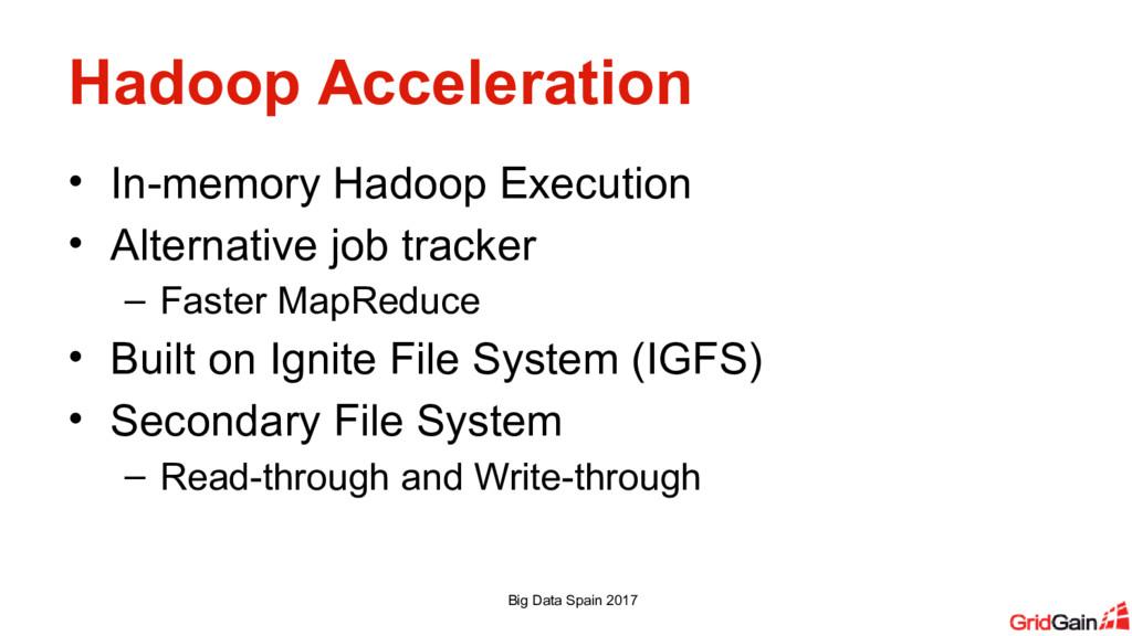 Hadoop Acceleration • In-memory Hadoop Executio...