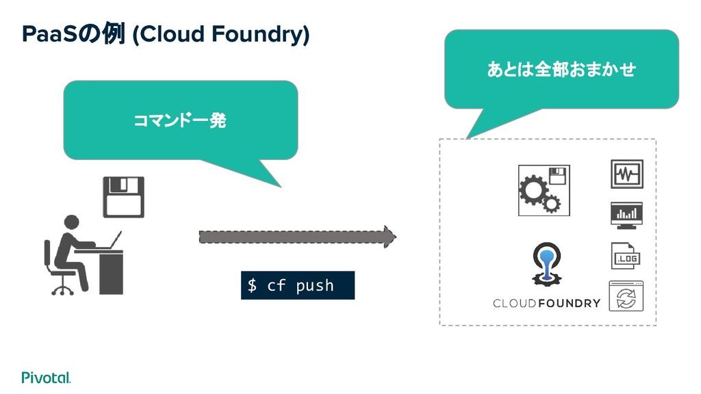 $ cf push PaaSの例 (Cloud Foundry) コマンド一発 あとは全部おま...