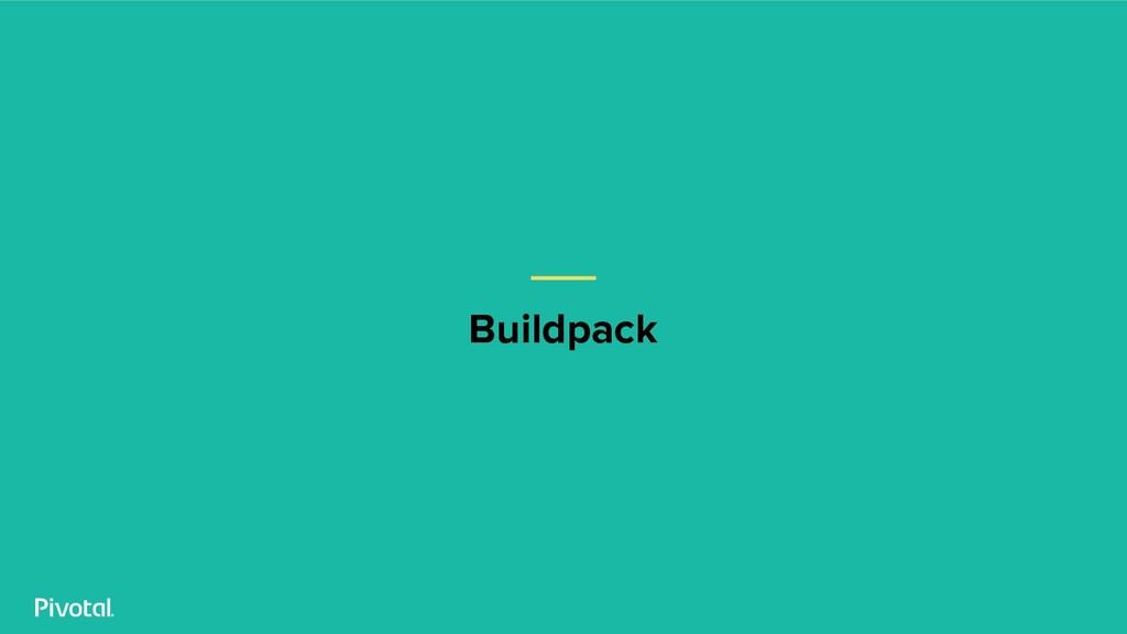 Buildpack