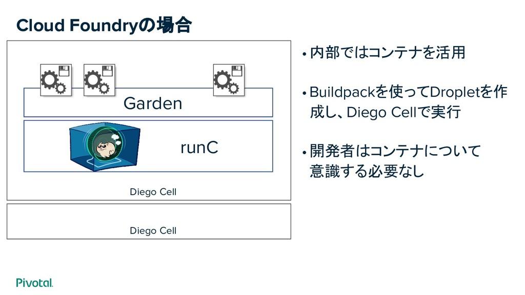 Diego Cell runC Garden Diego Cell •内部ではコンテナを活用 ...
