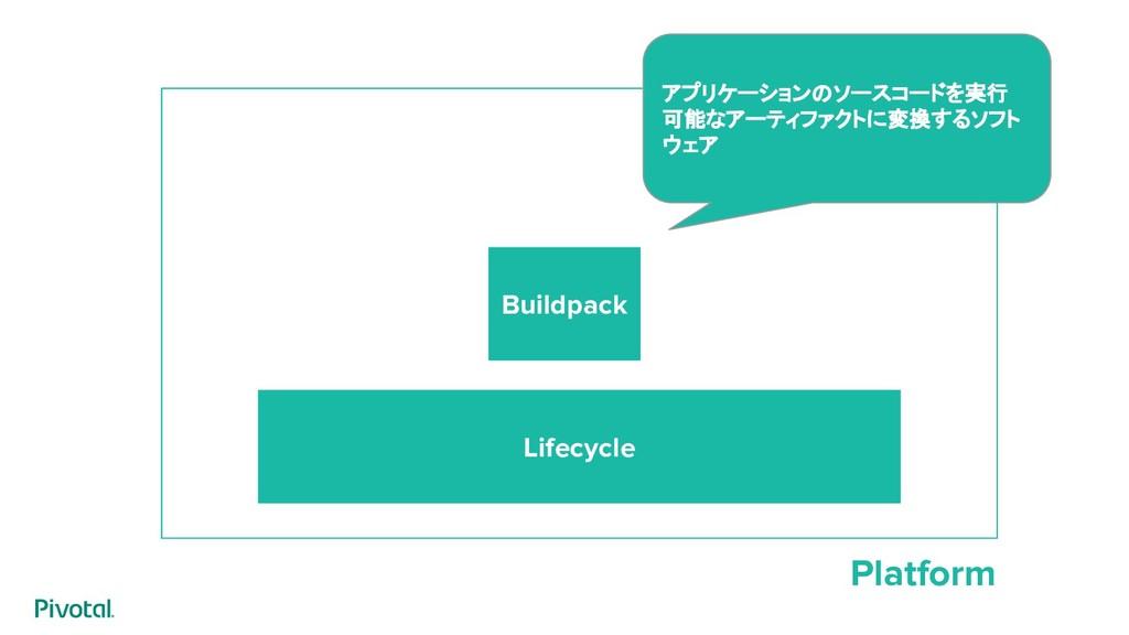 Platform Lifecycle Buildpack アプリケーションのソースコードを実行...