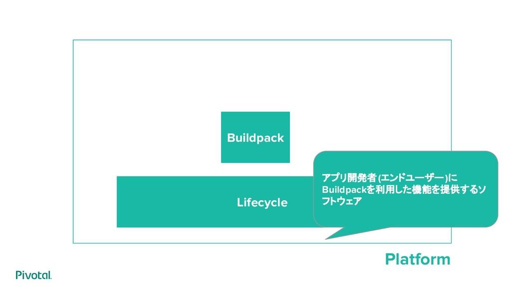 Platform Lifecycle Buildpack アプリ開発者(エンドユーザー)に B...
