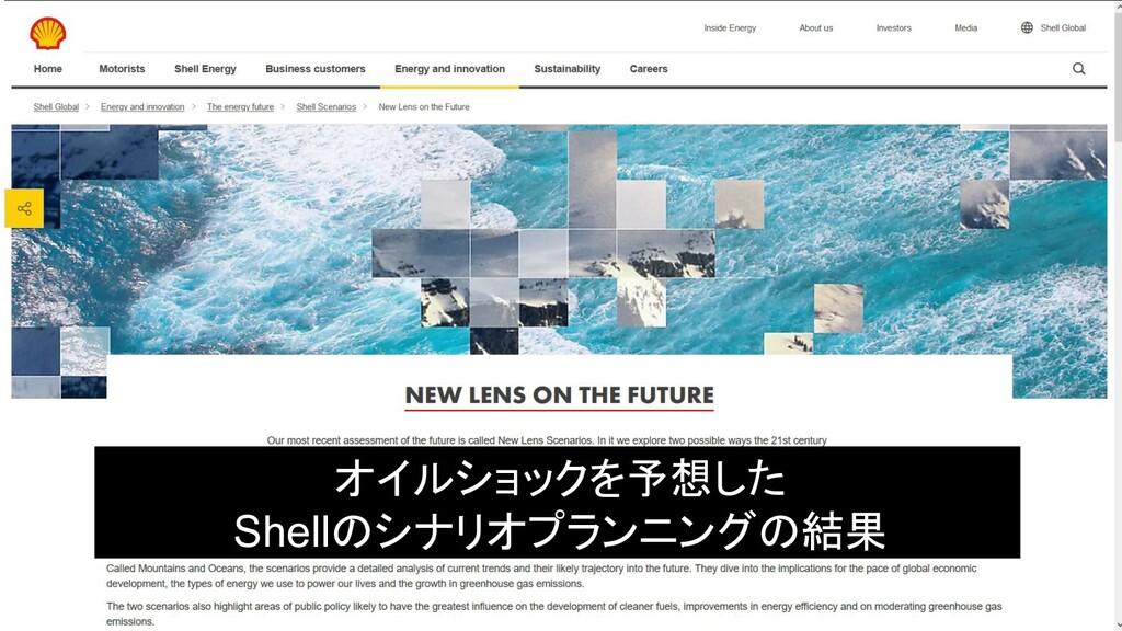 オイルショックを予想した Shellのシナリオプランニングの結果