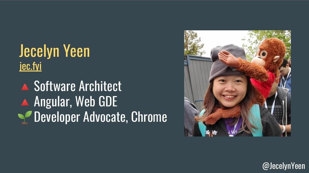 @JecelynYeen Jecelyn Yeen Software Architect An...