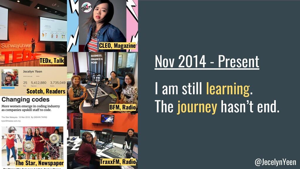 @JecelynYeen CLEO, Magazine TEDx, Talk Nov 2014...