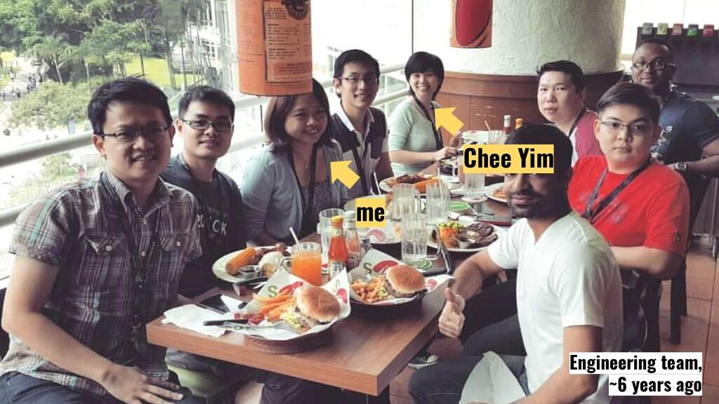 @JecelynYeen me Chee Yim Engineering team, ~6 y...