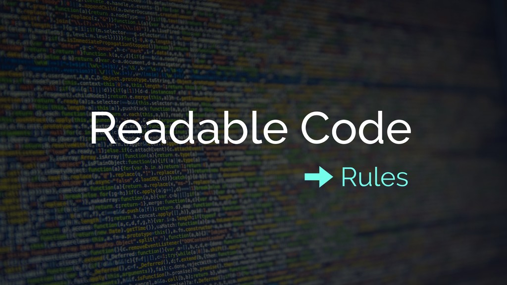 Readable Code Rules