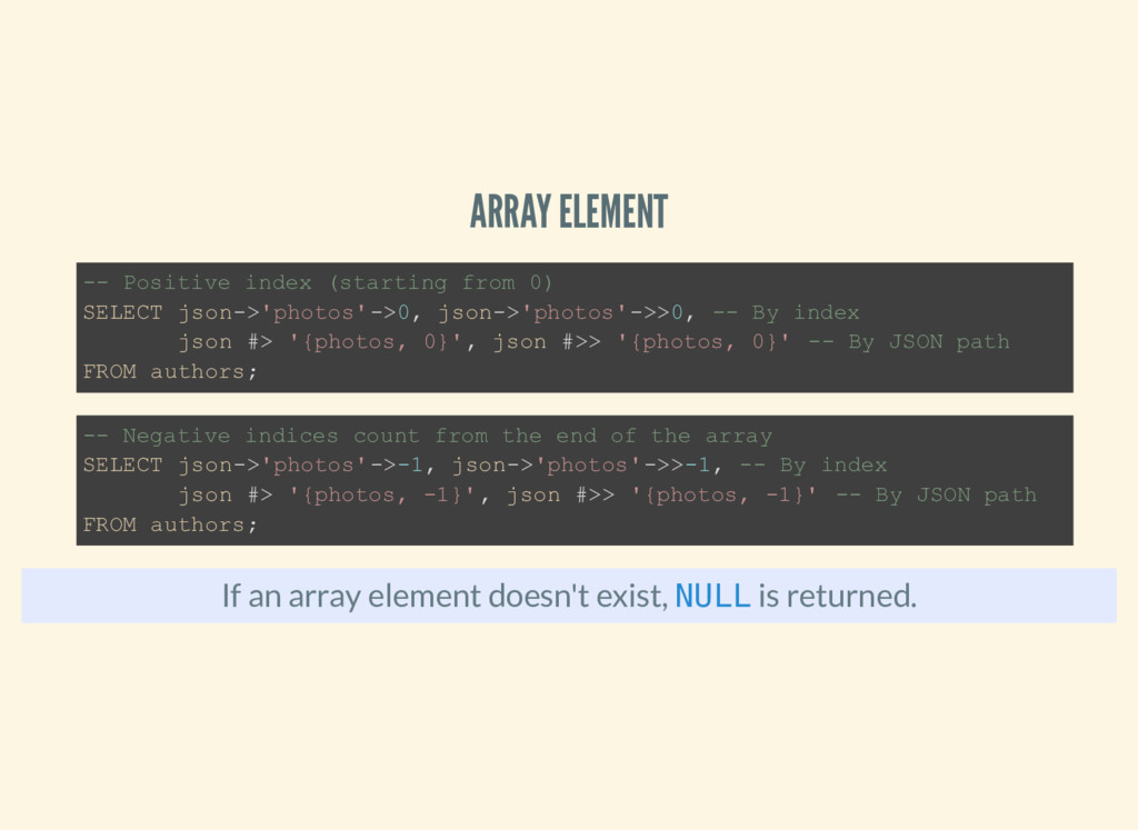 ARRAY ELEMENT If an array element doesn't exist...