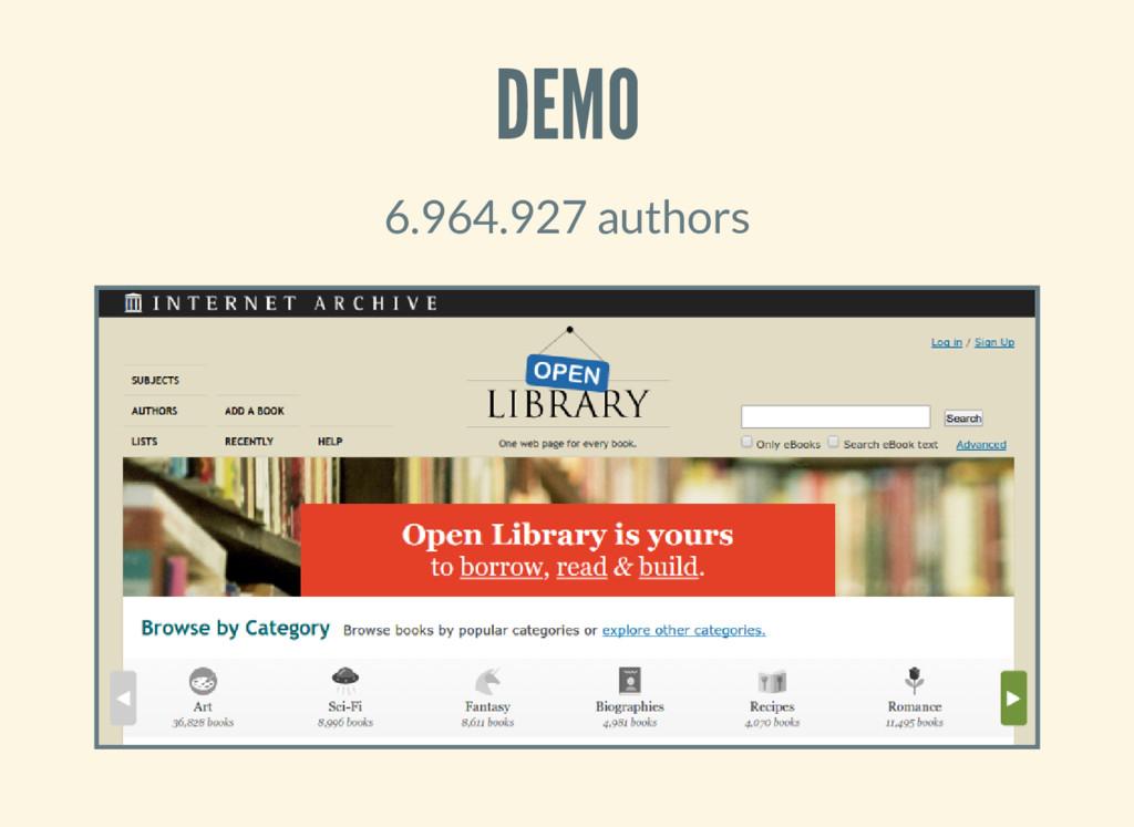 DEMO 6.964.927 authors