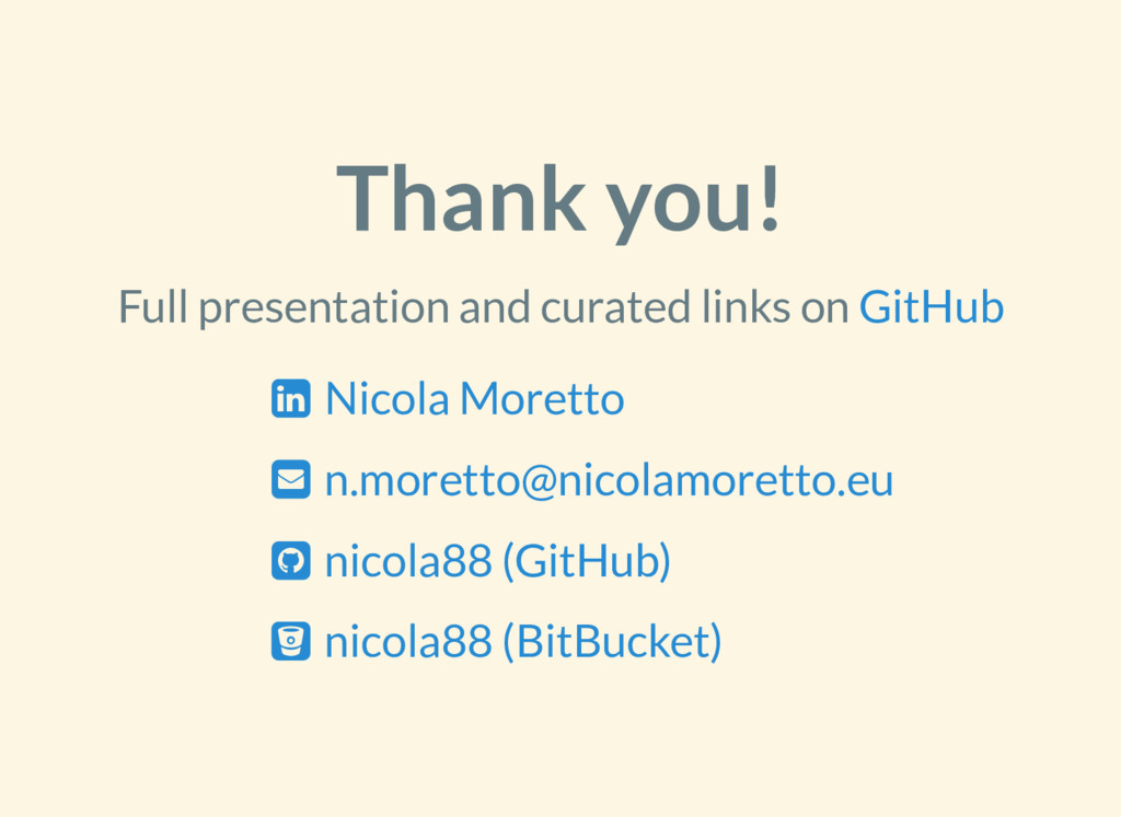 Thank you! Full presentation and curated links ...