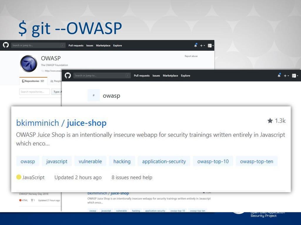 $ git --OWASP
