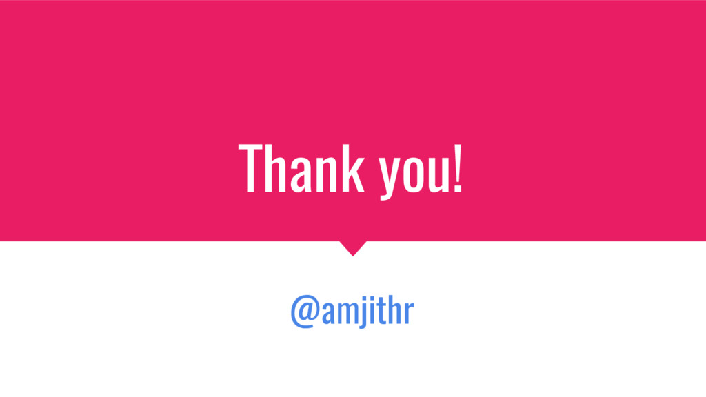 Thank you! @amjithr