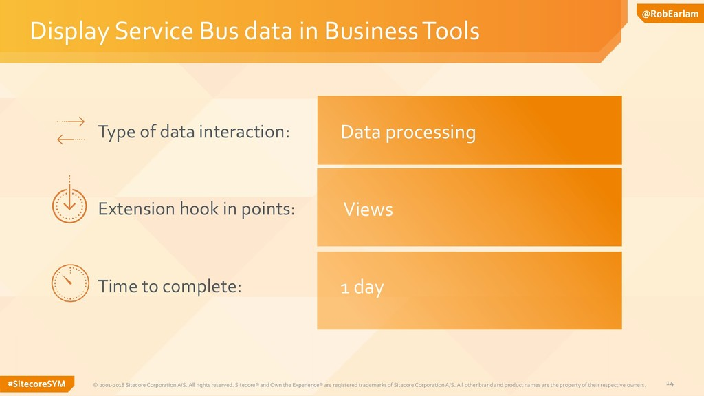 14 Display Service Bus data in Business Tools ©...