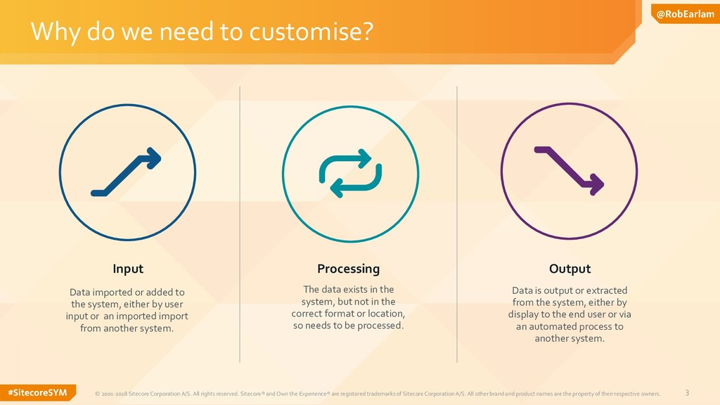3 Why do we need to customise? © 2001-2018 Site...