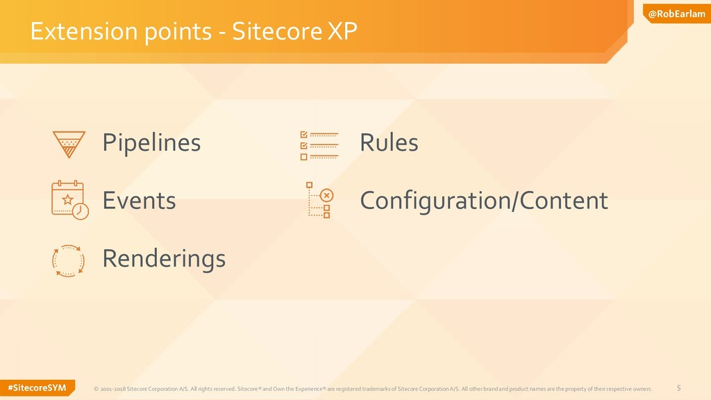 5 Extension points - Sitecore XP © 2001-2018 Si...