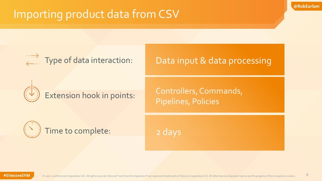 8 Importing product data from CSV © 2001-2018 S...