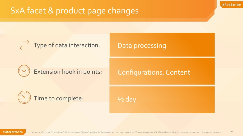 10 SxA facet & product page changes © 2001-2018...
