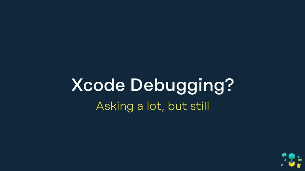 Xcode Debugging? Asking a lot, but still