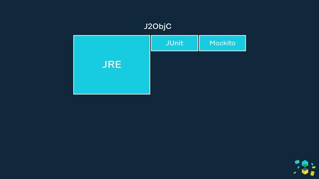 JRE (lang, io, util, etc) J2ObjC JRE JUnit Moc...
