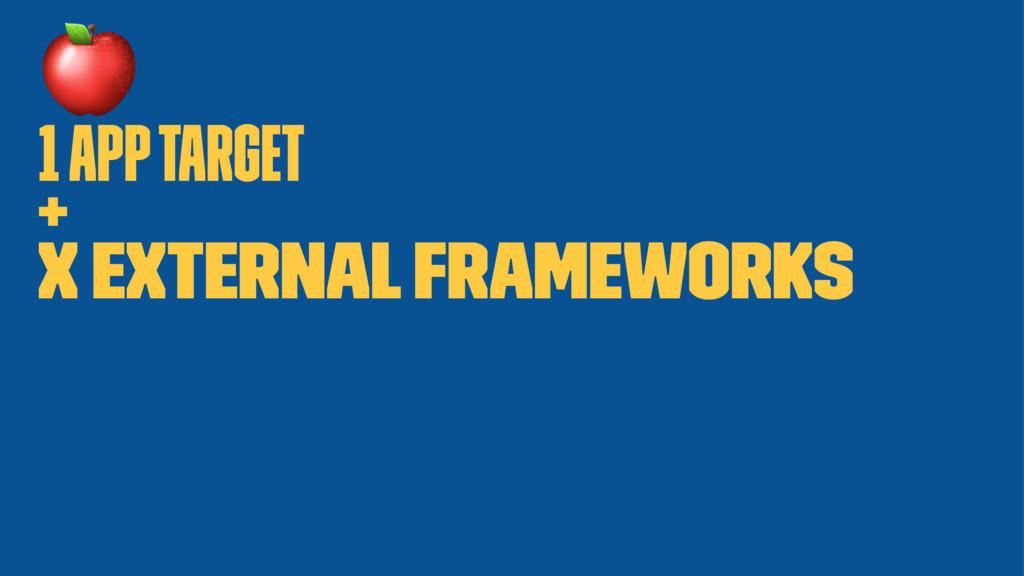! 1 app target + X External frameworks
