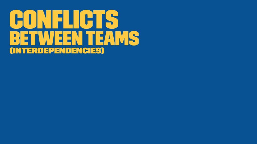 Conflicts Between teams (Interdependencies)