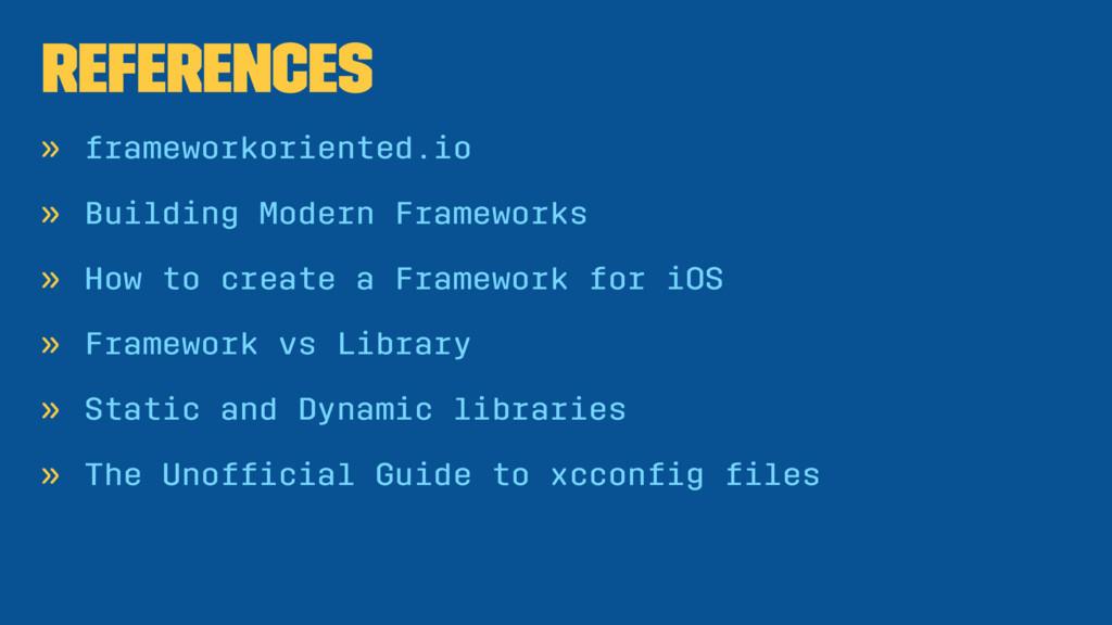 References » frameworkoriented.io » Building Mo...