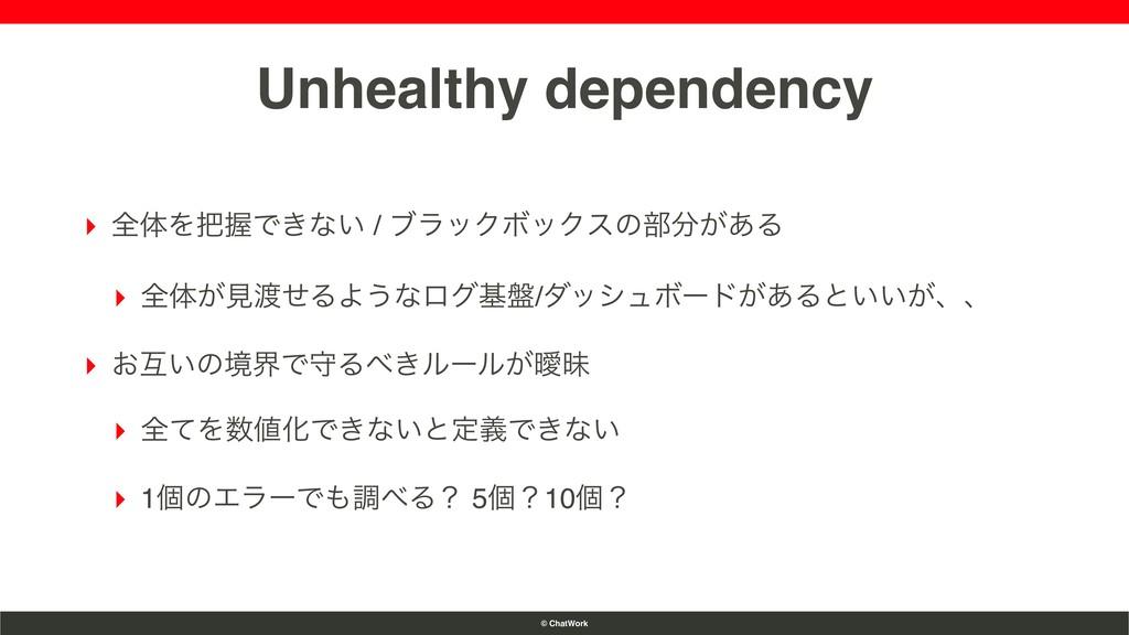 © ChatWork Unhealthy dependency ▸ શମΛѲͰ͖ͳ͍ / ϒ...