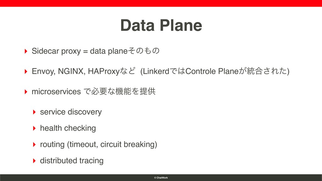 © ChatWork Data Plane ▸ Sidecar proxy = data pl...