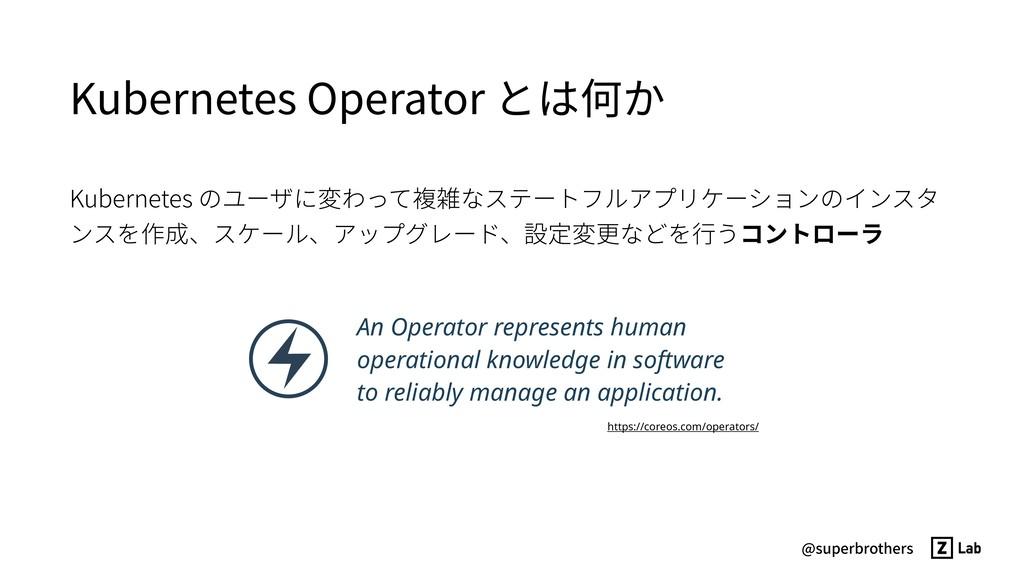 @superbrothers Kubernetes Operator とは何か Kuberne...