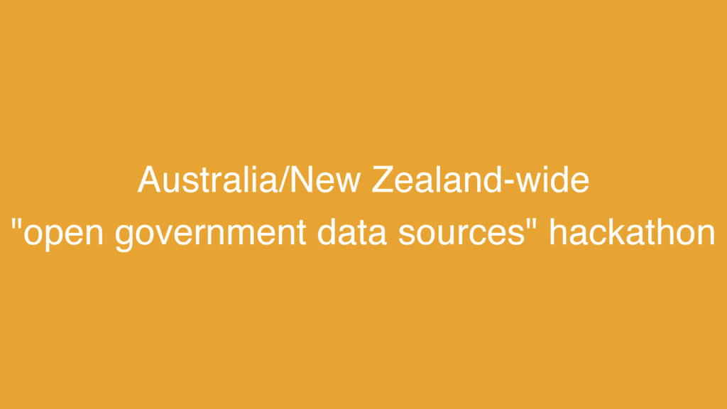 "Australia/New Zealand-wide  ""open government d..."