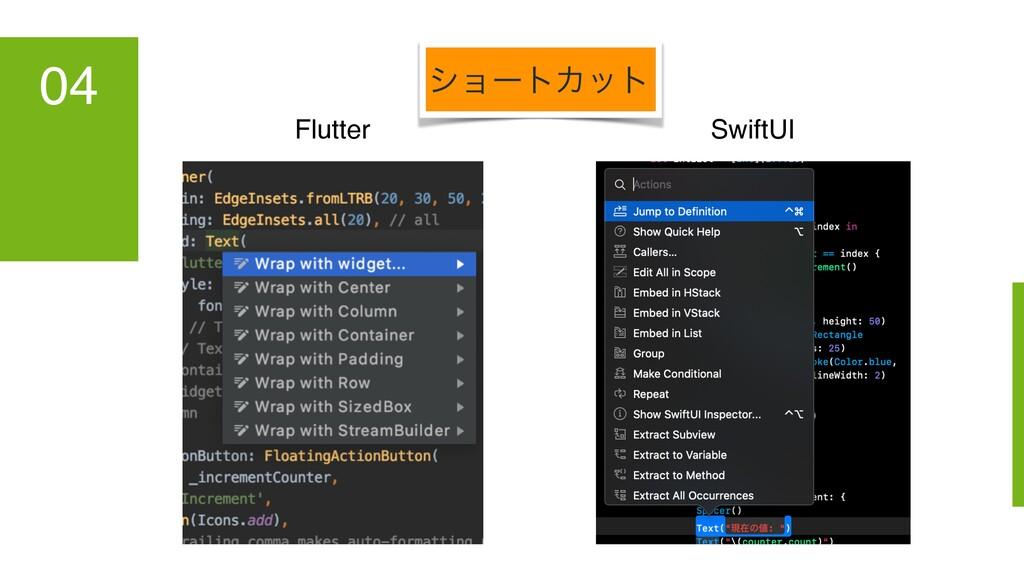 04 Flutter SwiftUI γϣʔτΧοτ