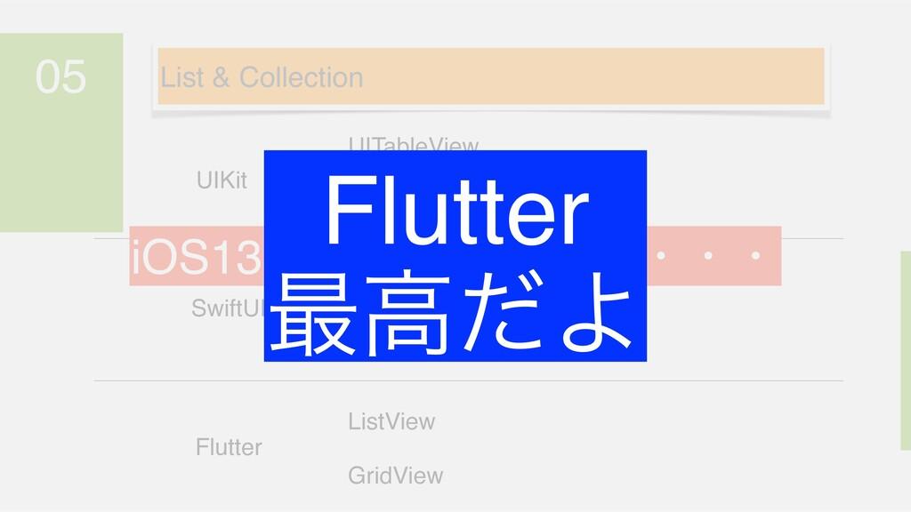 05 SwiftUI Flutter UIKit UITableView UICollecti...