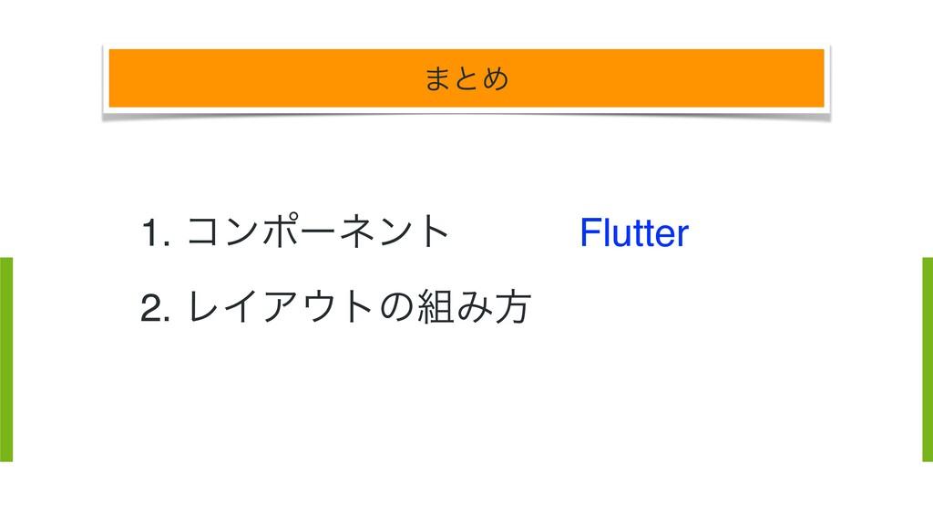 ·ͱΊ Flutter Flutter Flutter 1. ίϯϙʔωϯτ 2. ϨΠΞτ...