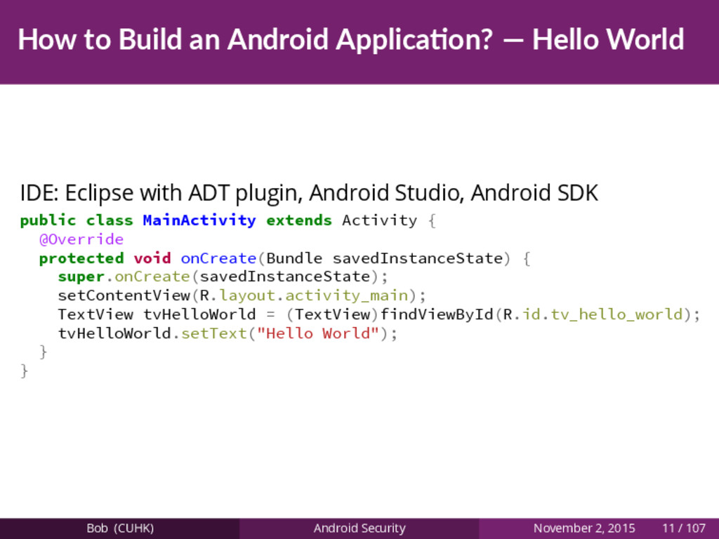 How to Build an Android Applica on? — Hello Wor...