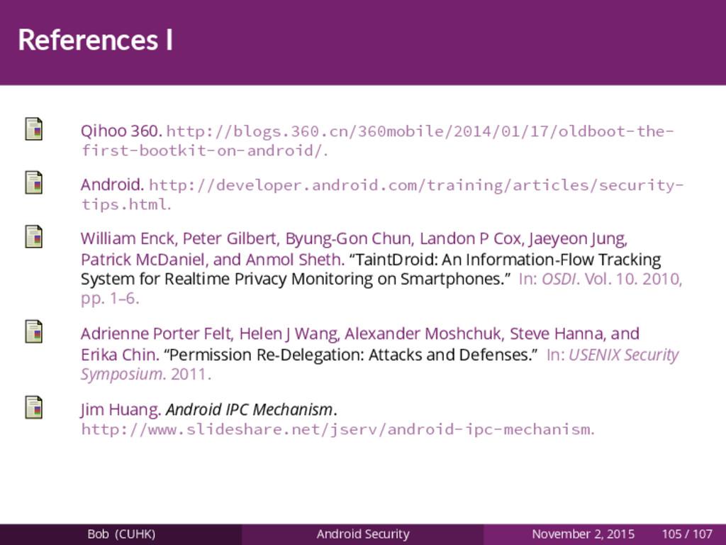 References I Qihoo 360. http://blogs.360.cn/360...