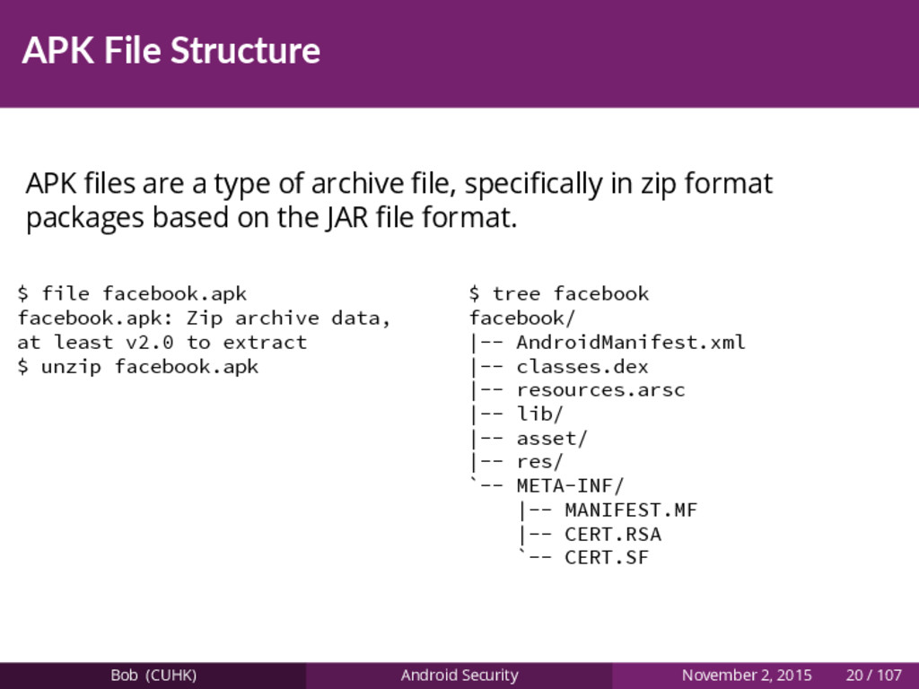 APK File Structure APK files are a type of archi...