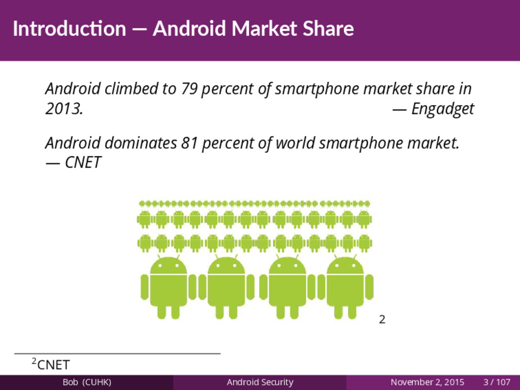 Introduc on — Android Market Share Android clim...