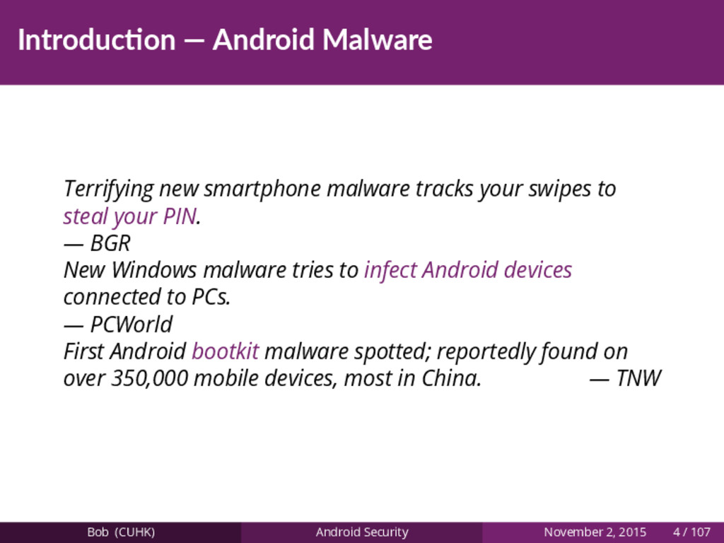 Introduc on — Android Malware Terrifying new sm...