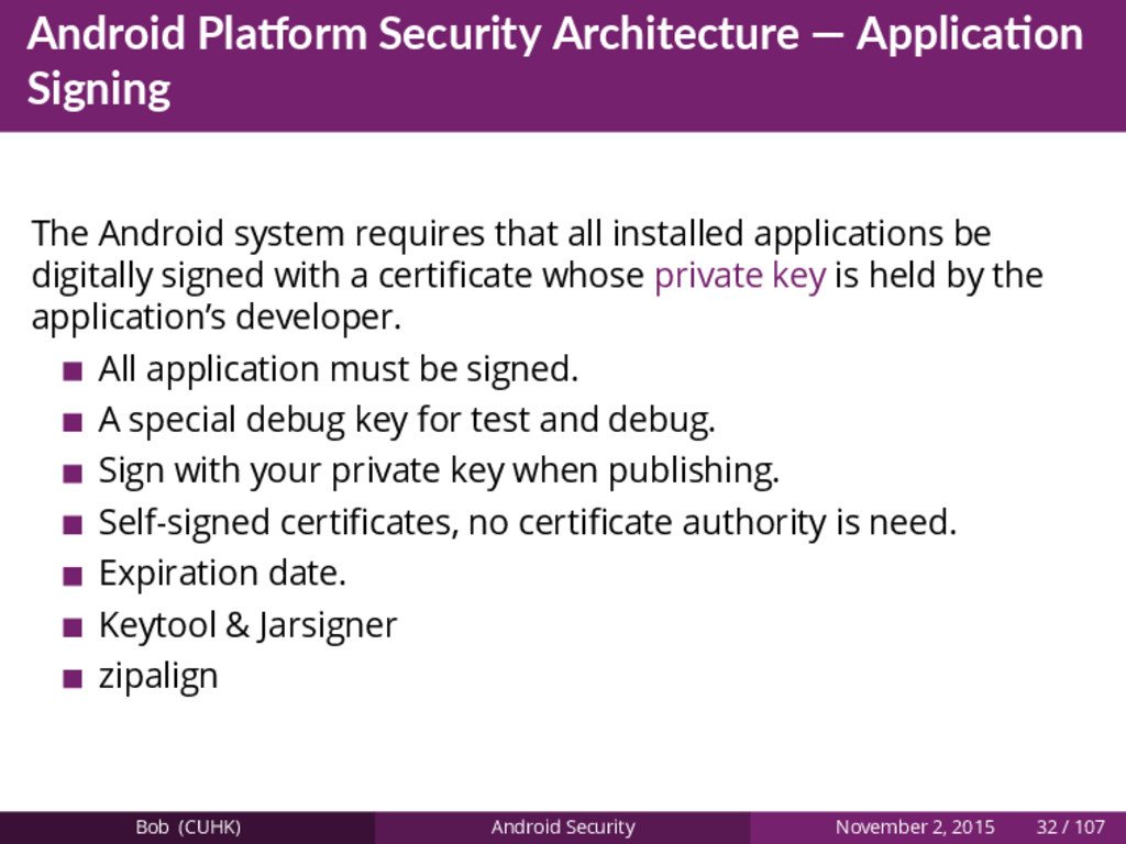 Android Pla orm Security Architecture — Applica...