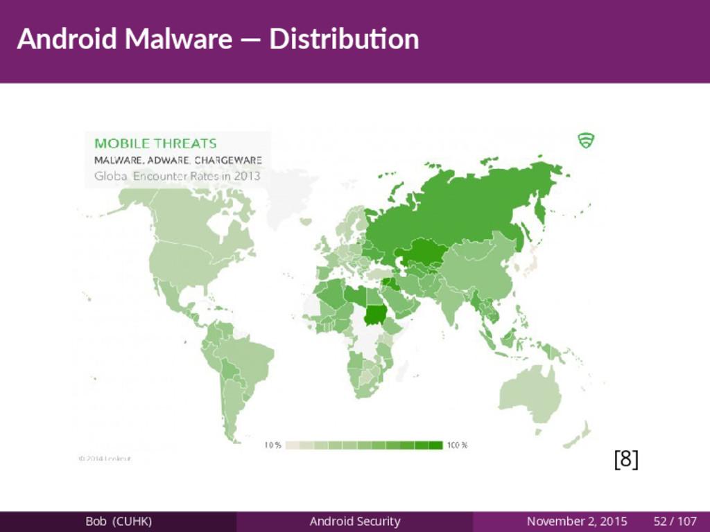 Android Malware — Distribu on [8] Bob (CUHK) An...