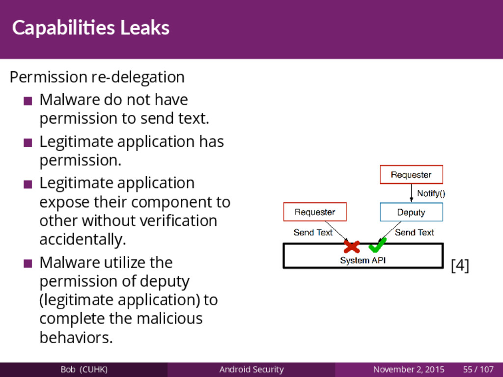 Capabili es Leaks Permission re-delegation Malw...
